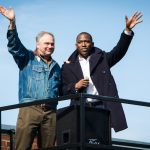Tim Kaine and Levar Stoney
